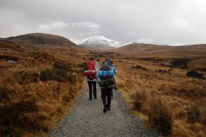 An image of hikers in Ireland